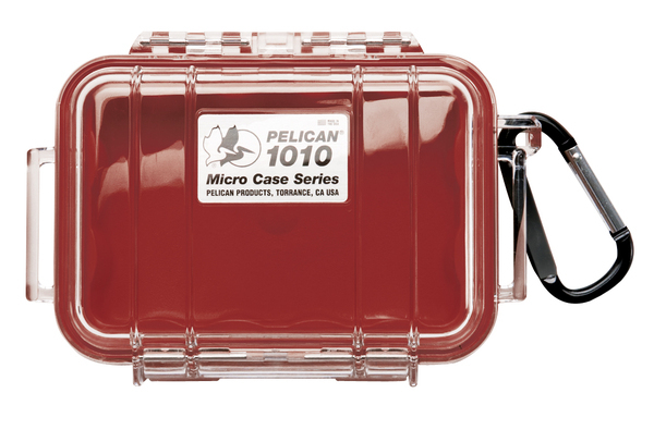 Pelican 1010 Case - Clear / Red